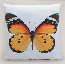 Polster Schmetterling orange  45x45 cm
