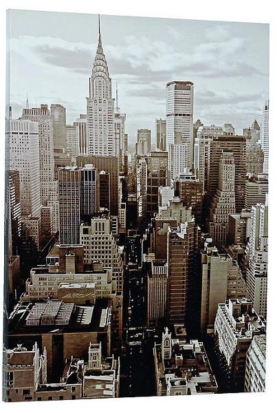 bild new york skyline hochformat 60 x 80 cm geschenkideen b2 style. Black Bedroom Furniture Sets. Home Design Ideas