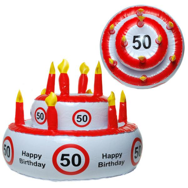 Aufblasbare Geburtstagstorte 50er